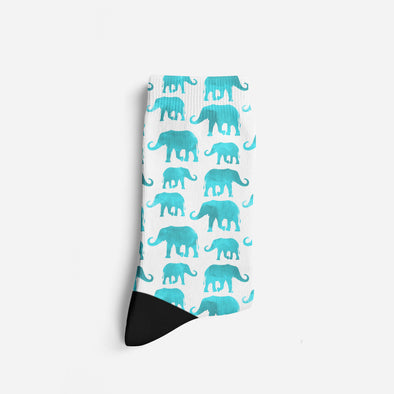 Women's Turquoise Watercolor Socks | woodation.myshopify.com