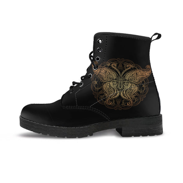 Golden Mandala Butterfly Boots | woodation.myshopify.com