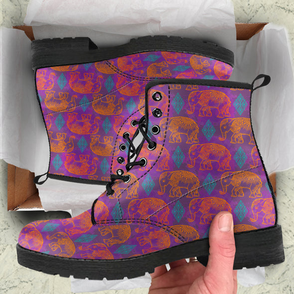 Tribal Elephant Boots | woodation.myshopify.com