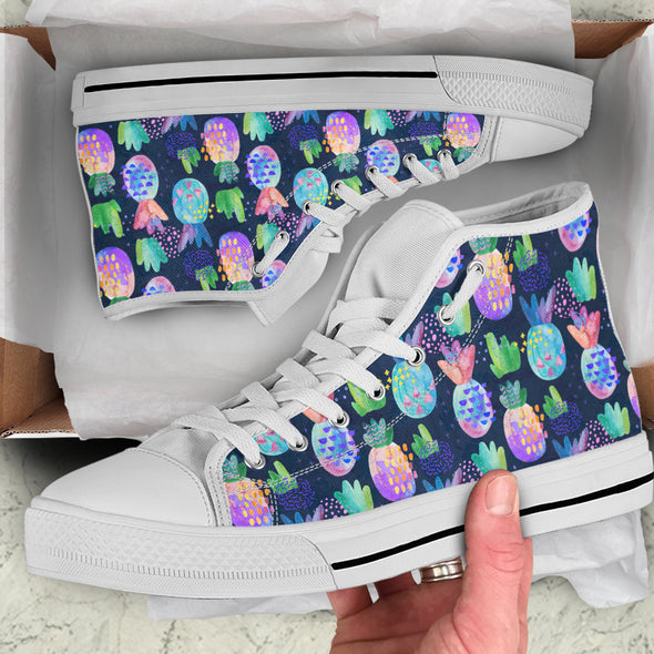 Pineapple Love Hgh-Top Shoes | woodation.myshopify.com