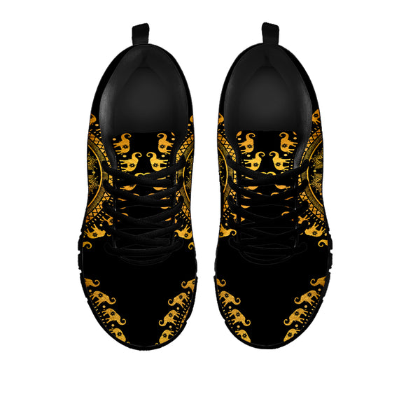 Golden Mandala Elephant Sneakers | woodation.myshopify.com