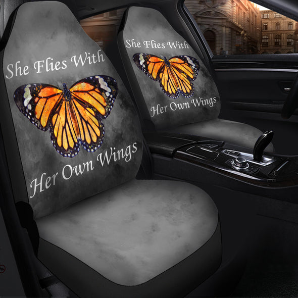 She Flies With Her Own Wings Car Seat Covers | woodation.myshopify.com