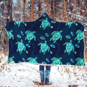 Turtle Love Hooded Blanket | woodation.myshopify.com