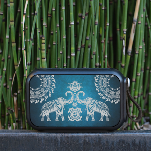 Elephant Mandala Thumpah Speaker | woodation.myshopify.com