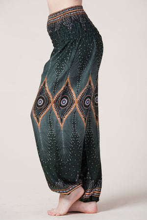 Diamond Peacock Green Artisan Haaremihousut