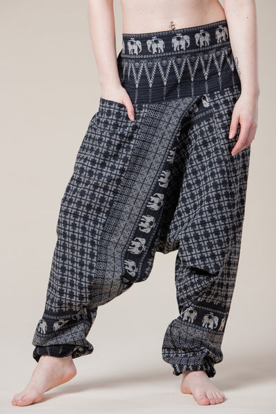 Gray Elephant Hill Tribe Artisan Low Cut Haaremihousut