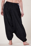 Pinstripe Elephant Black Hill Tribe Artisan Low Cut Haaremihousut