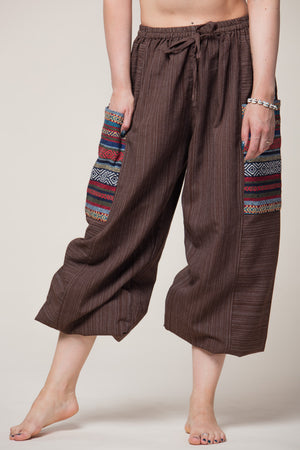 Hill Tribe Unisex Brown Artisan Haaremihousut