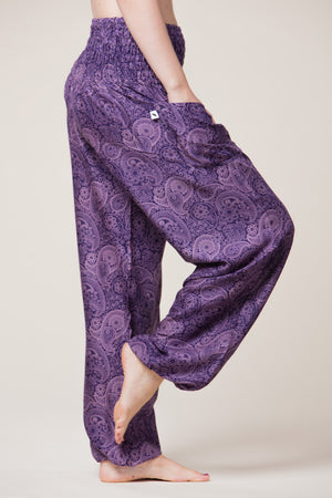 Royal Purple Paisley Artisan Haaremihousut sivulta