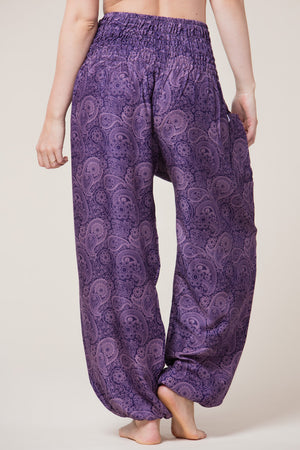 Royal Purple Paisley Artisan Haaremihousut takaa