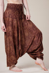 Royal Brown Paisley Artisan Jumpsuit Haaremihousut