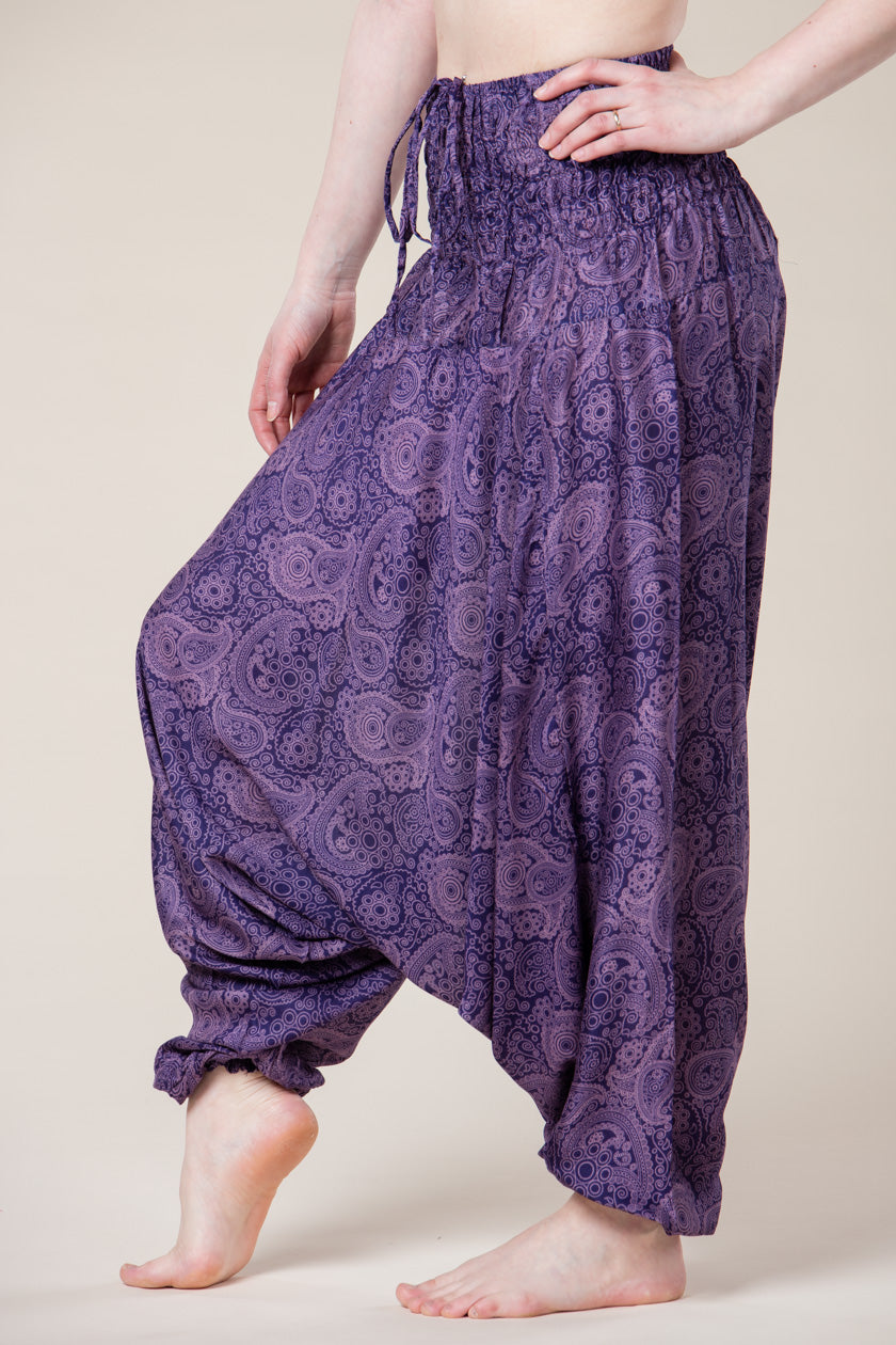 Royal Purple Paisley Artisan Jumpsuit Haaremihousut