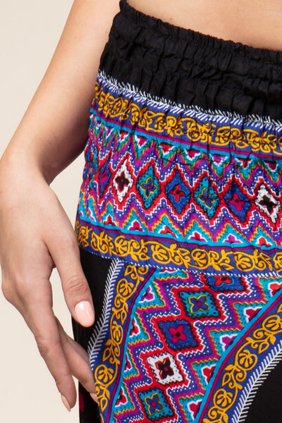 Dashiki Black Artisan Jumpsuit Haaremihousut