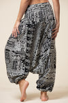 Tribal Black Artisan Jumpsuit Haaremihousut