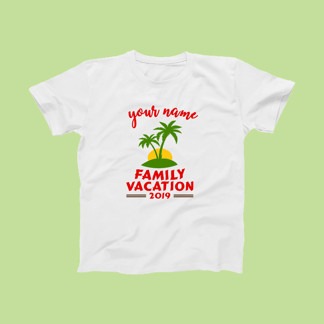 Family Vacation 2019 Travel T-Shirts for 4-Custom