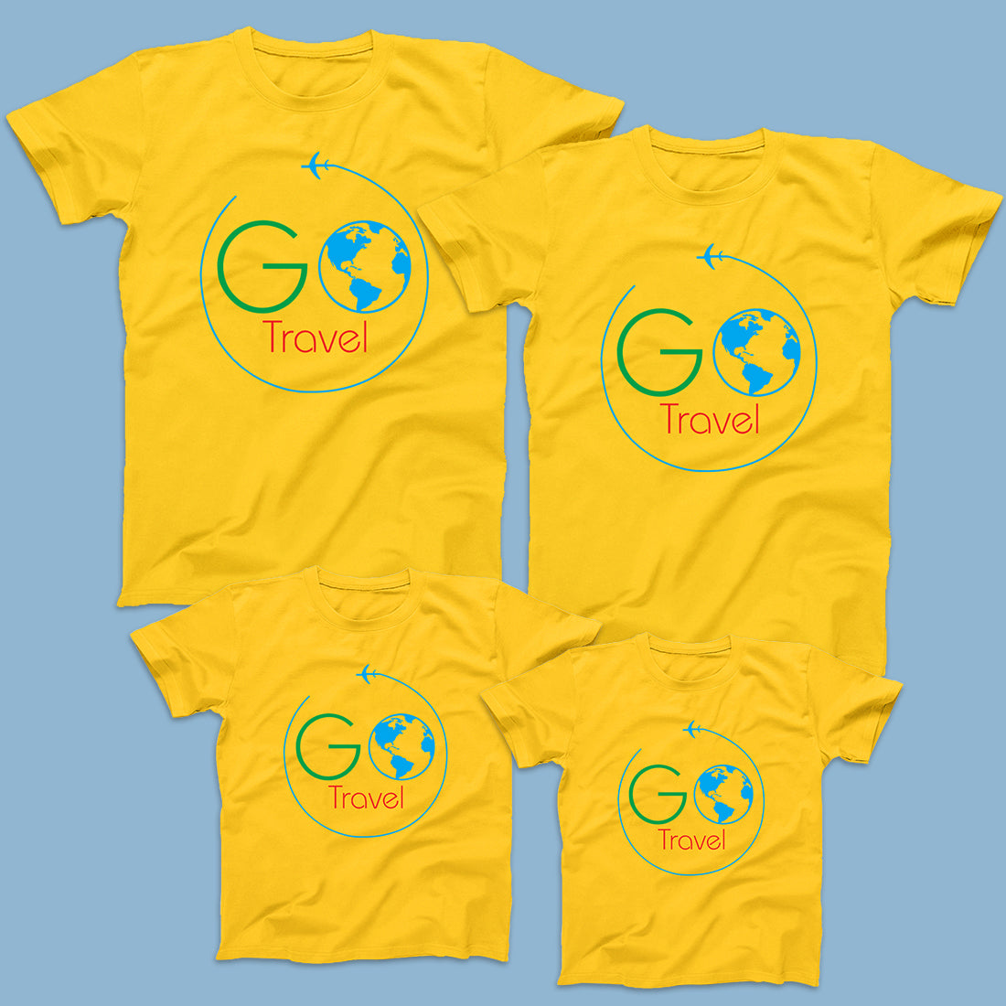 Go Travel- Travel T-Shirts for 4