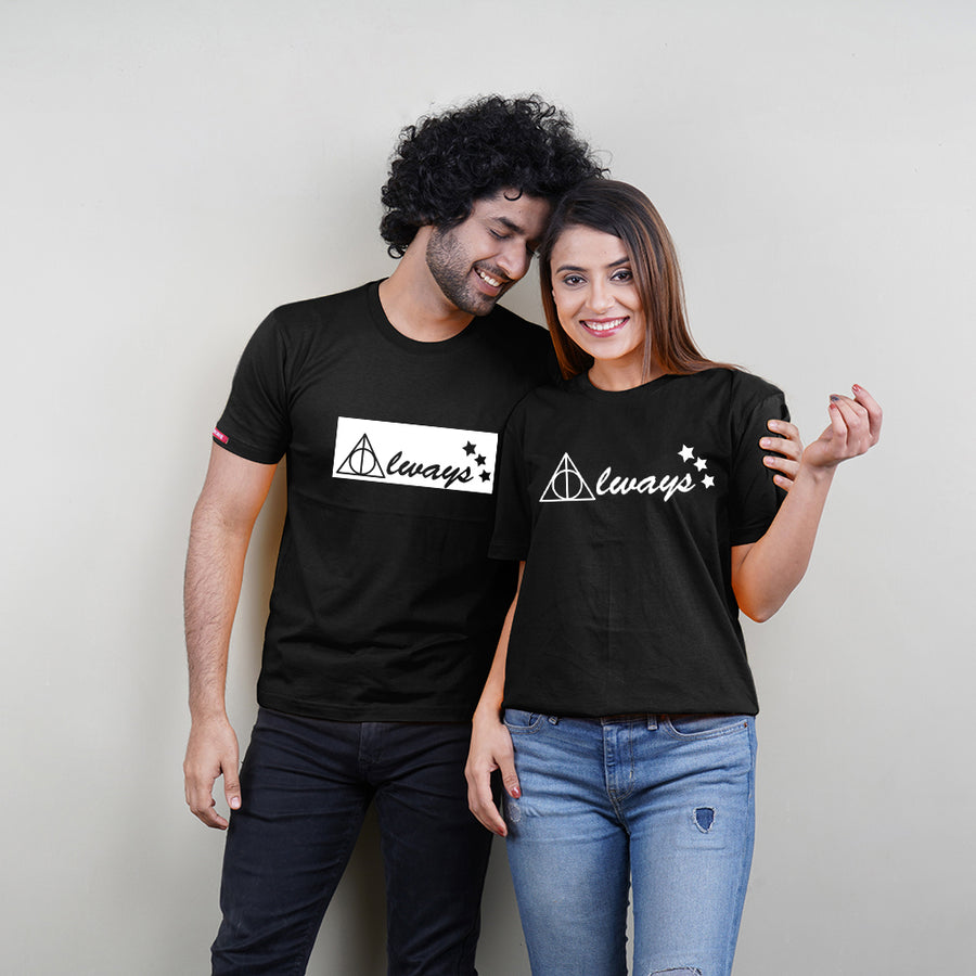Always Black Couple T-Shirts