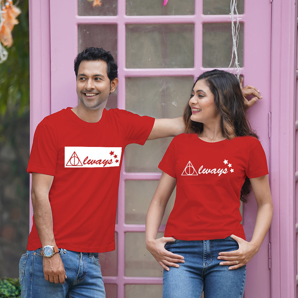 Always Always Red Couple T-Shirts
