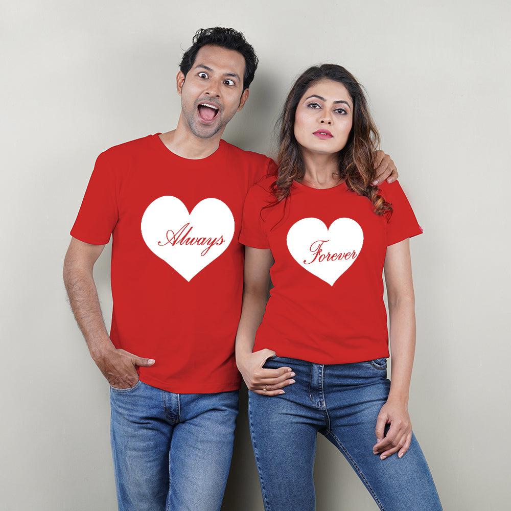 Forever Always Red Couple T-Shirts