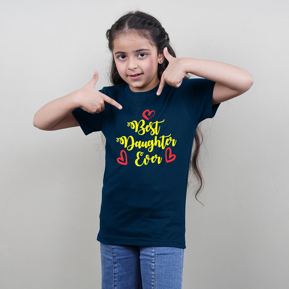 Best Dad Daughter Ever Family T-Shirts for 3