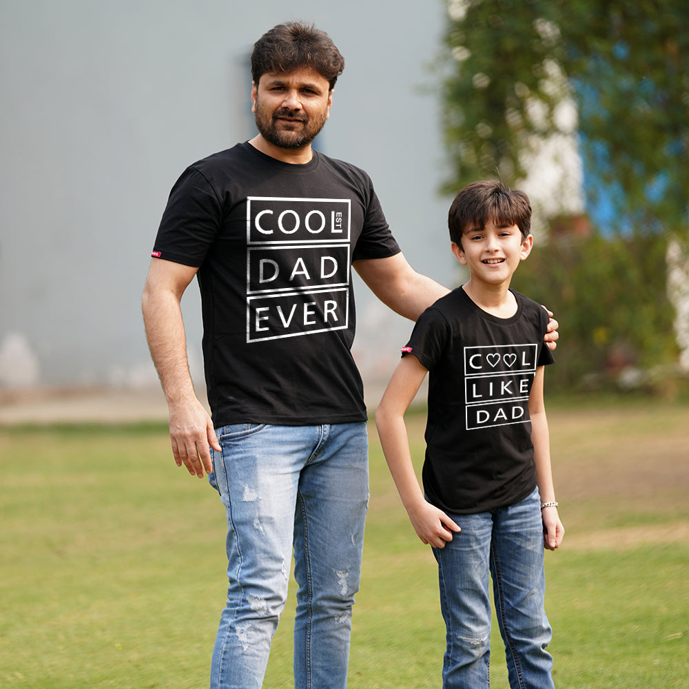 Coolest Dad and Kid T-Shirt Combo