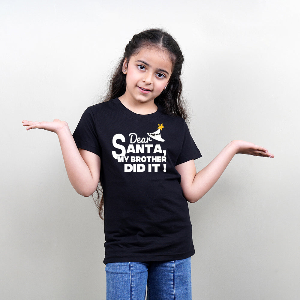 Dear Santa My Brother Did It Christmas TShirt