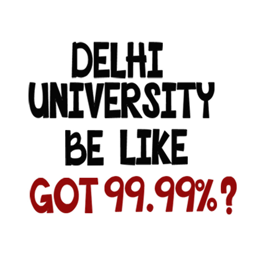 Stubborne Delhi University Men T-Shirt in White