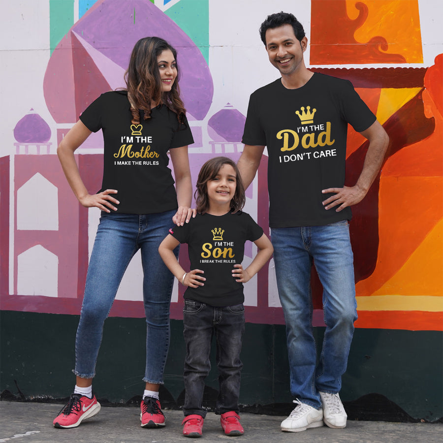 I Am Dad Mom Son Family TShirts Combo