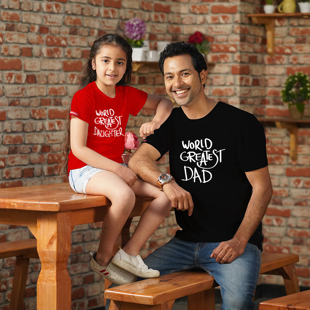 World's Greatest Dad Daughter TShirts Combo
