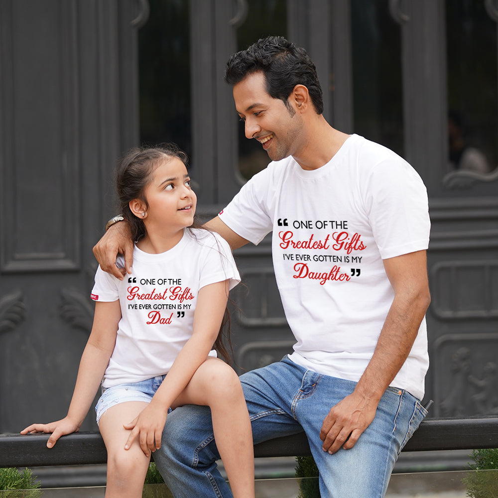 Greatest Gift Dad Daughter TShirts Combo