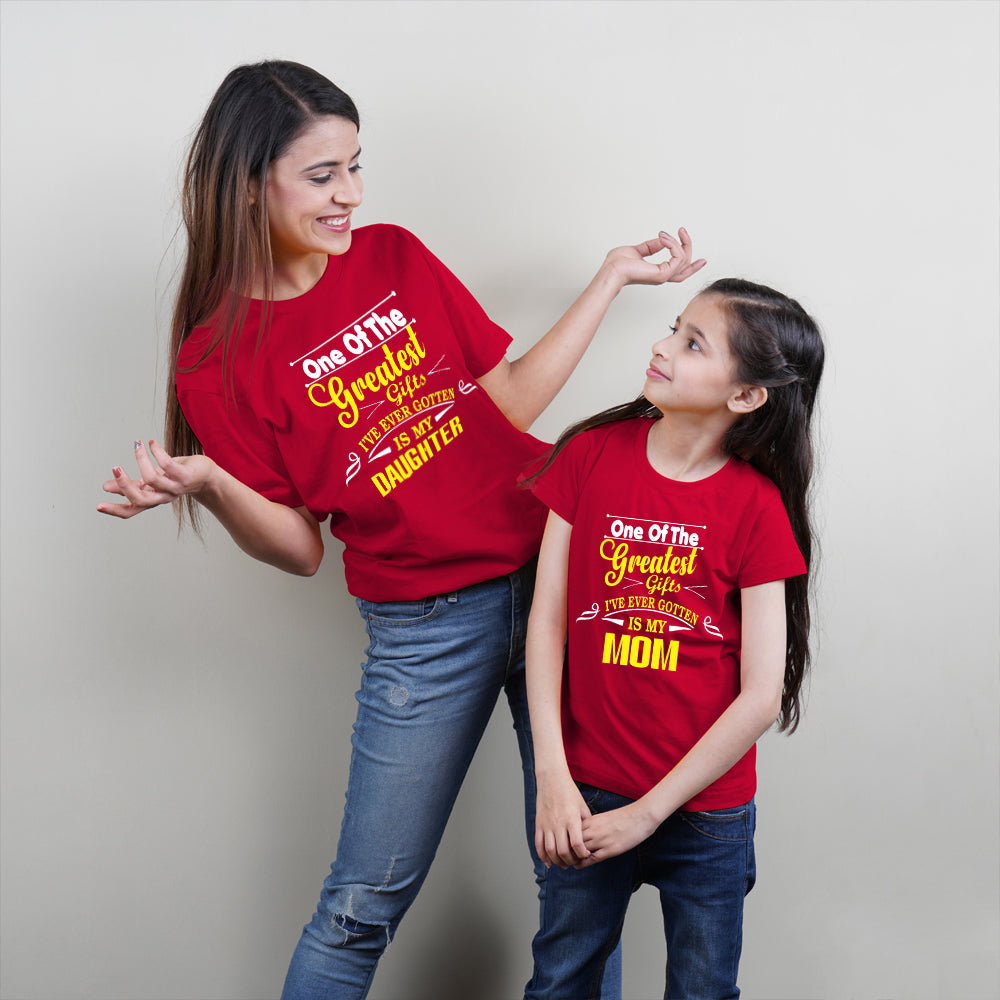 Greatest Gift Mom Daughter TShirt Combo