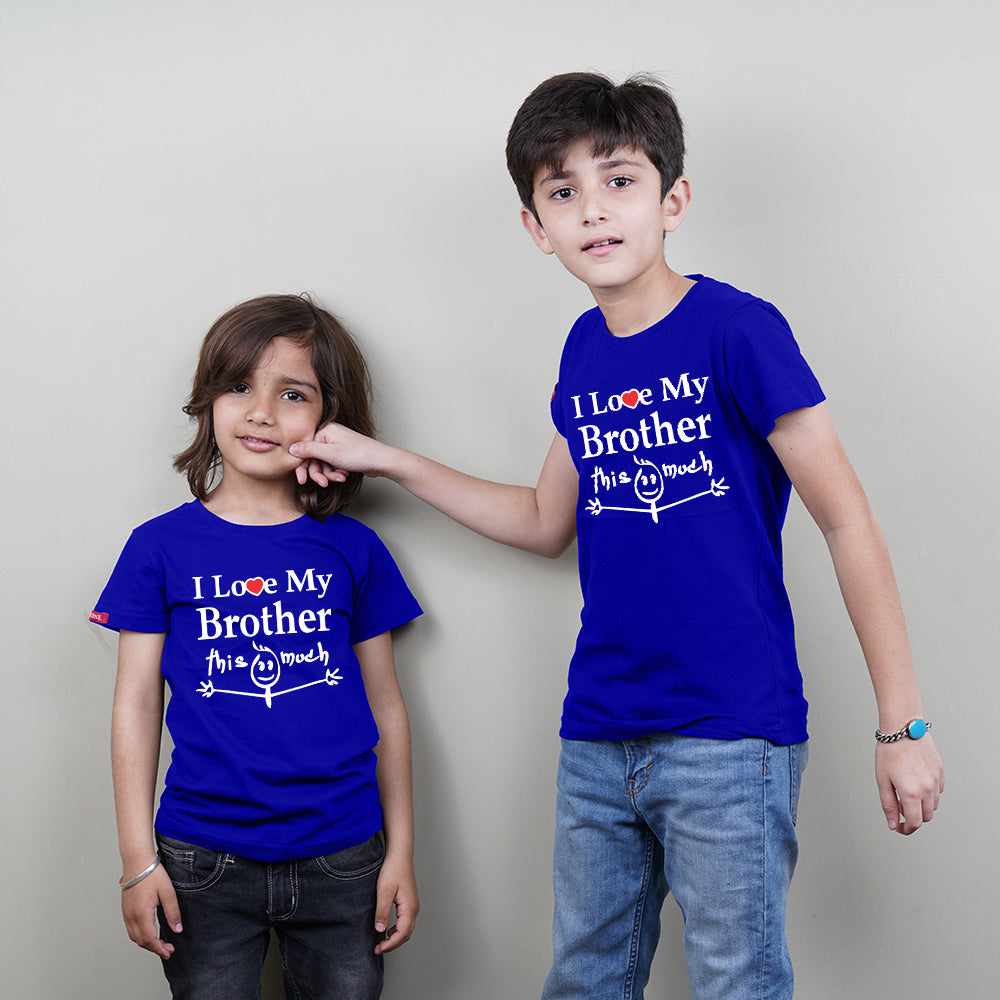 I Love You This Much Brother Brother Siblings T-Shirts