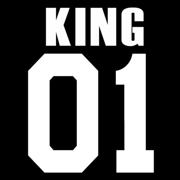 King Queen 01 Couple T-Shirts