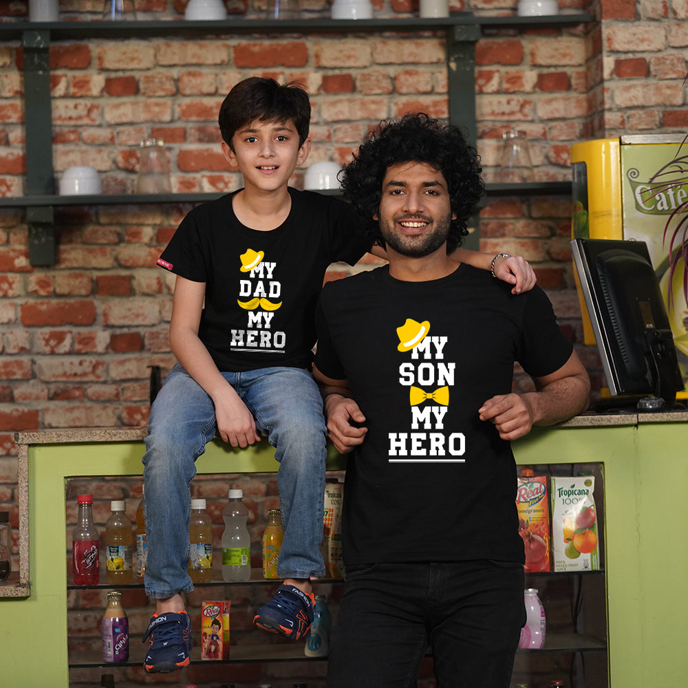My Hero Dad Son TShirts Combo