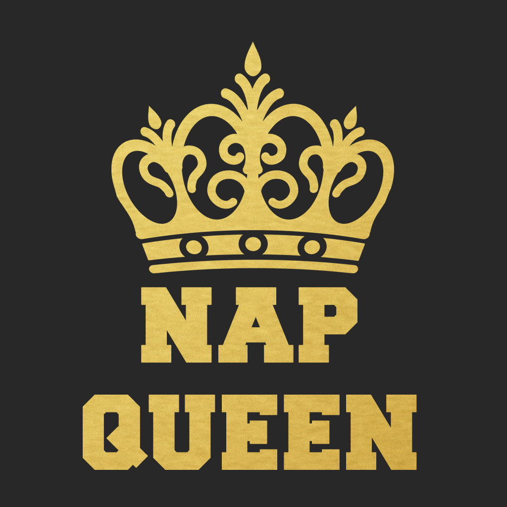 Stubborne Nap Queen Women T-Shirt In Black