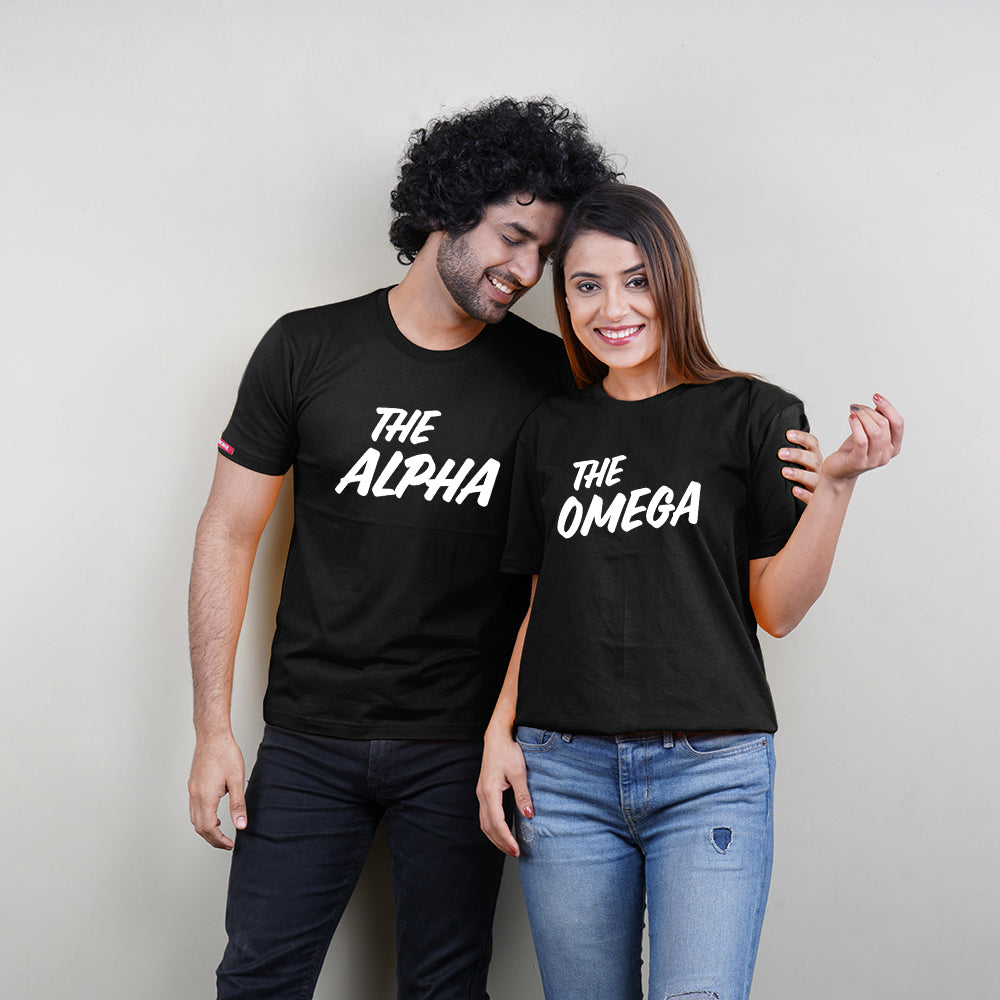 Stubborne Omega Alpha Couple T-Shirt