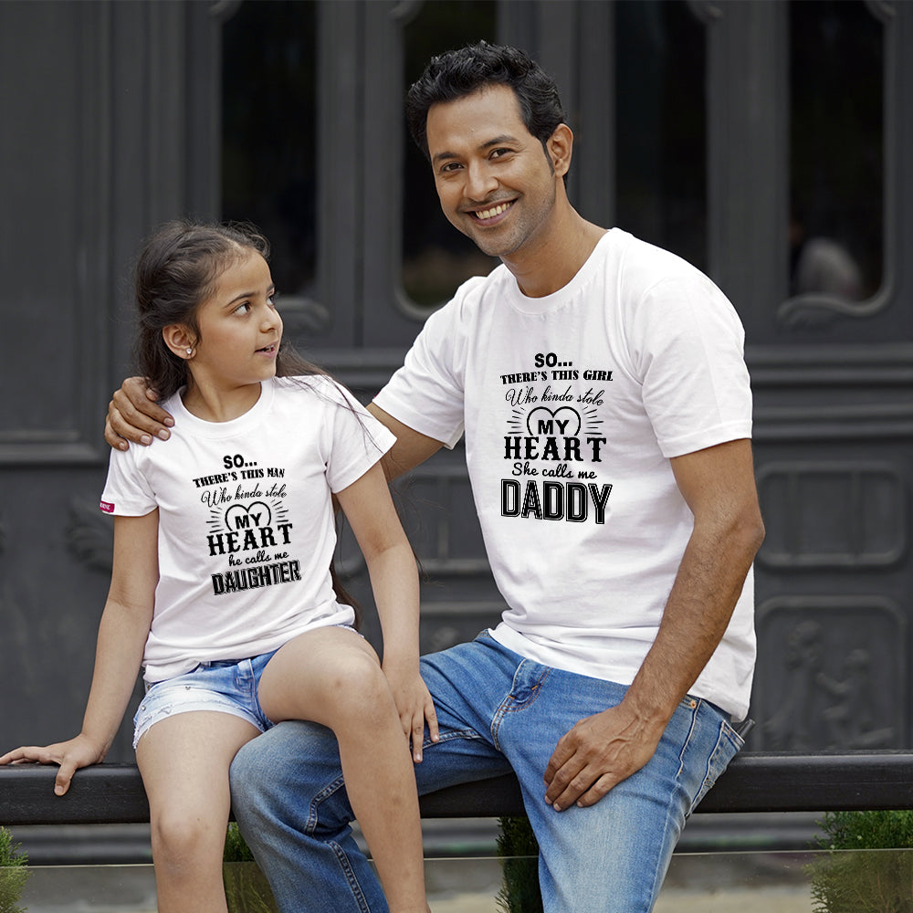 Stole My Heart Dad Daughter TShirts Combo