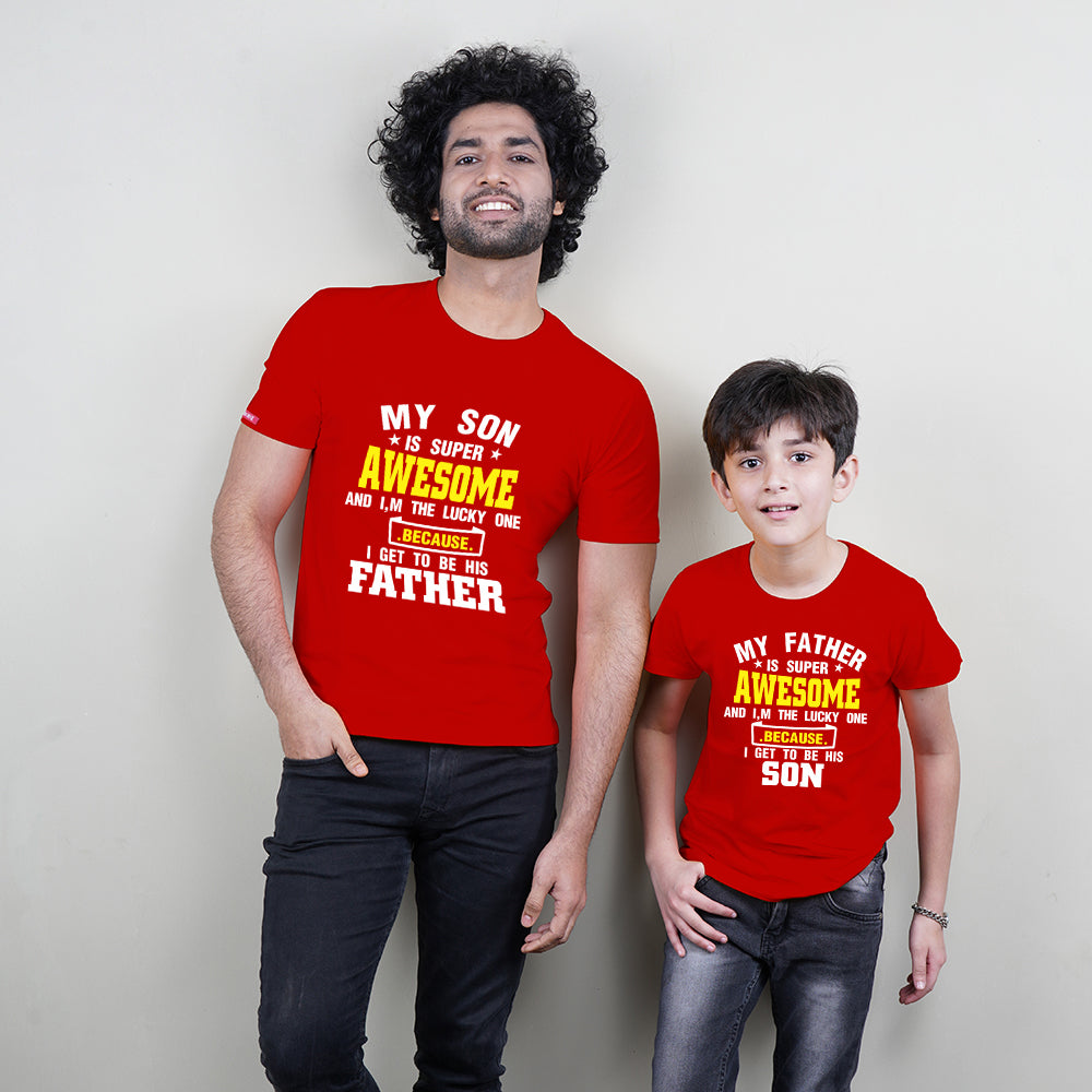 Super Awesome Father Son  TShirts Combo