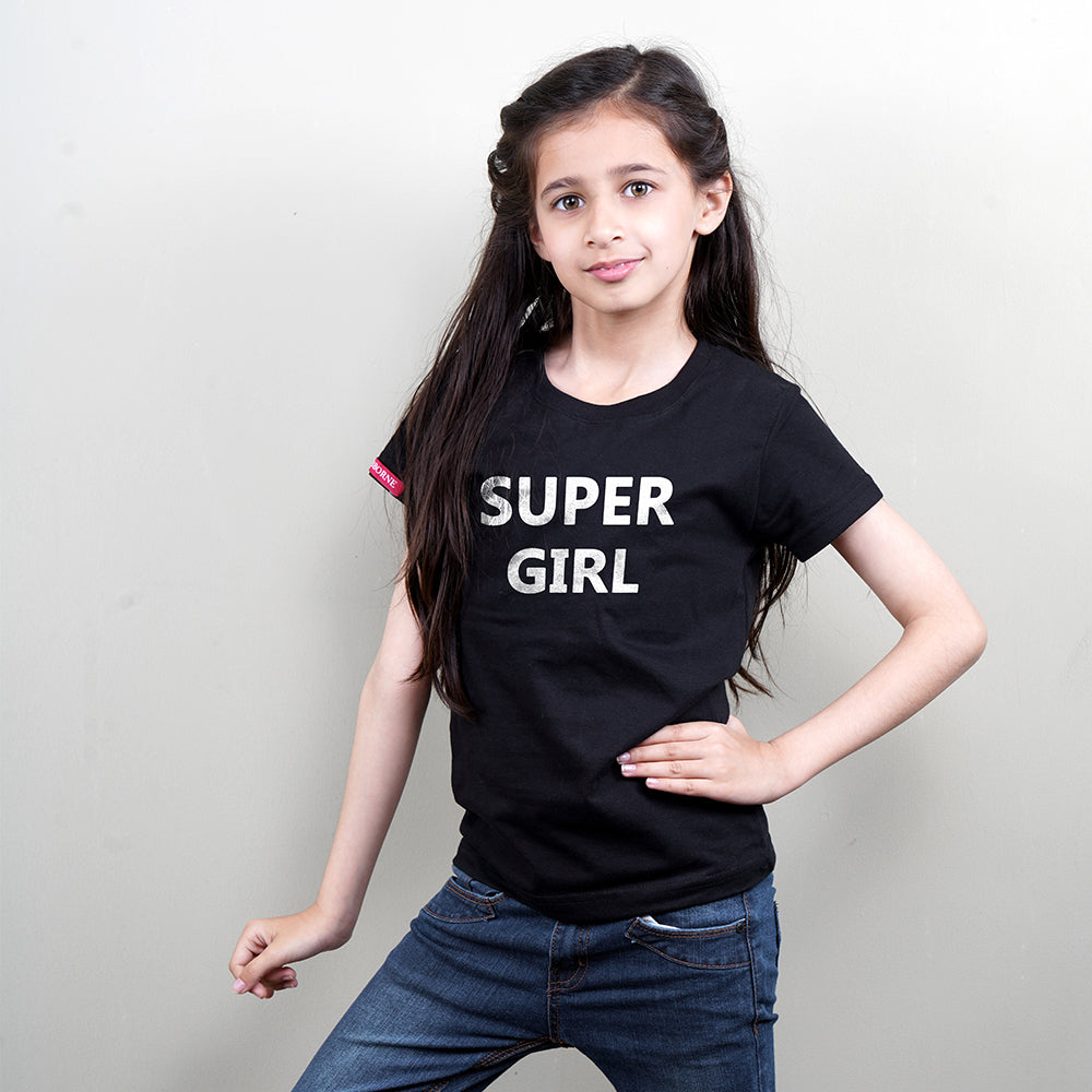 Stubborne Super Dad And Girl Family T-Shirt combo