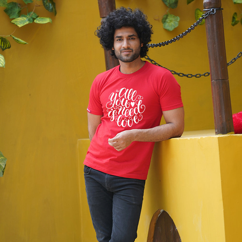 All You Need Is Love Red Couple T-Shirts