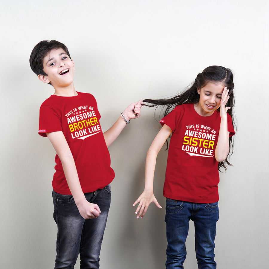 Awesome Brother Sister Sibling T-Shirts