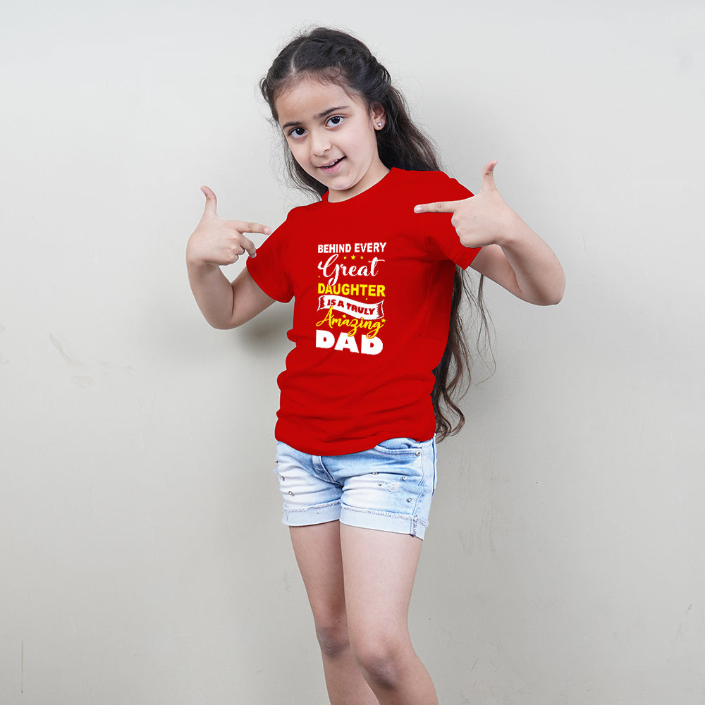 Behind Every Great Dad Daughter TShirts Combos