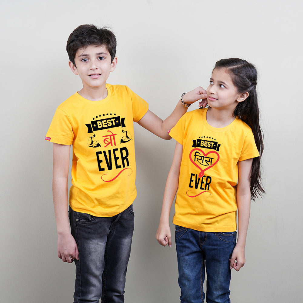 Best Bro Ever Best Sis Ever Brother Sister Sibling TShirt