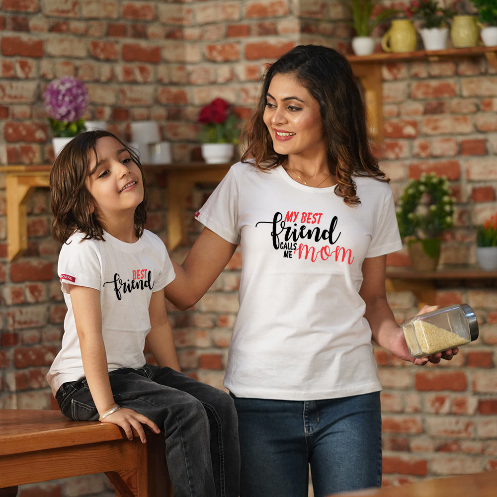 Best Friends For Life- 'Mom & Son T-Shirts Combo'