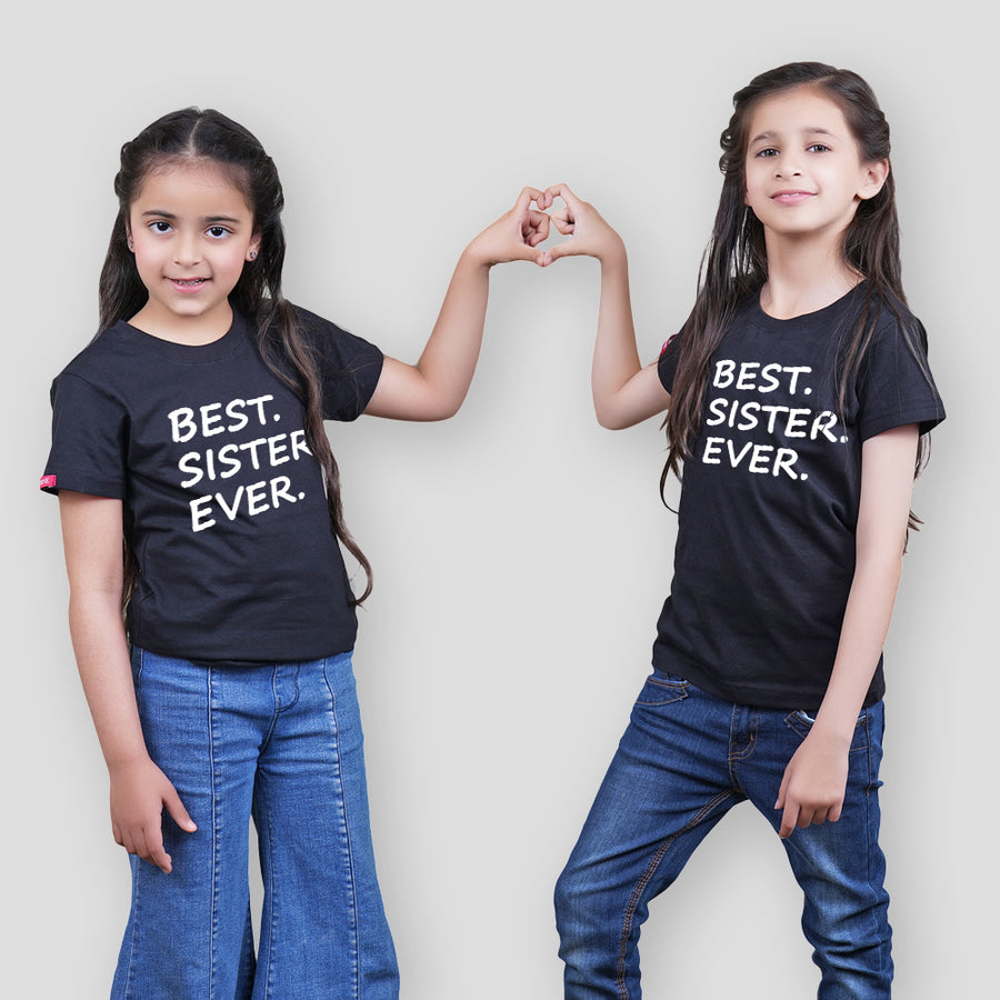 Stubborne Best Sister Matching Siblings T-Shirt Combo