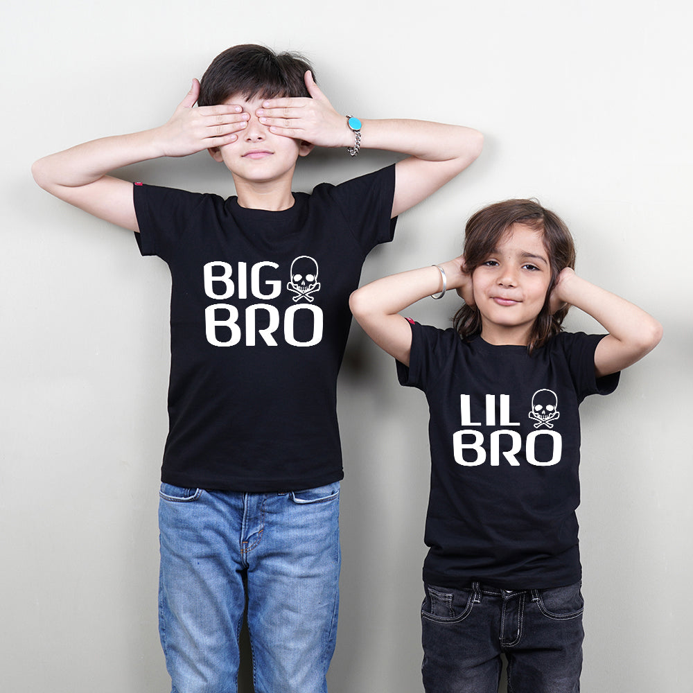 Stubborne Big Little Brother Siblings Matching T-Shirt