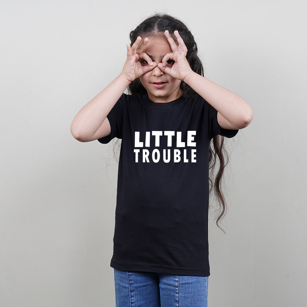 Stubborne Big Trouble Family of 3 T-Shirt Combo