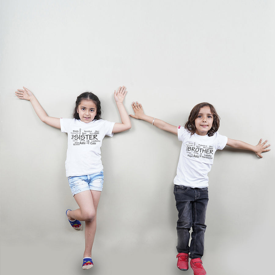 Brother Sister All The Traits Sibling TShirts Combo