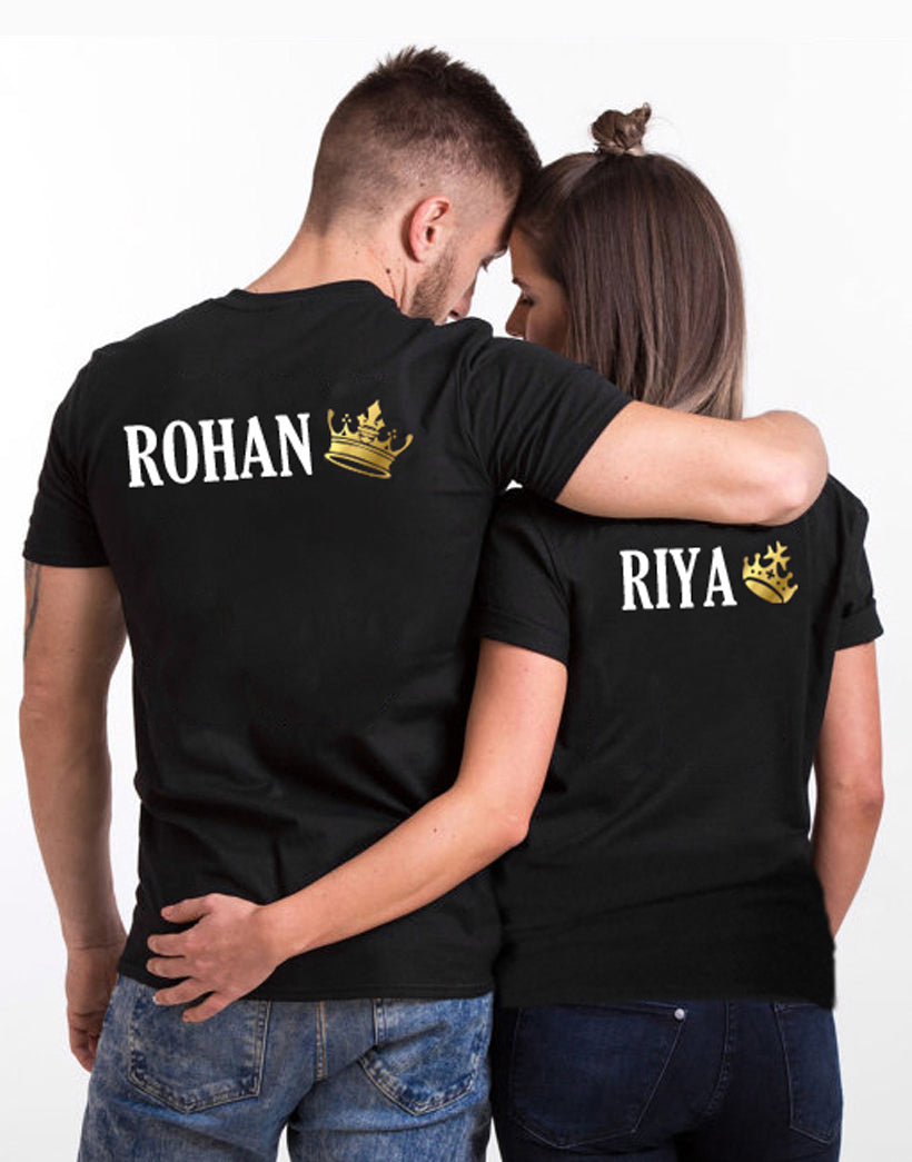 King And Queen Customized T-Shirt (Prepaid Only)