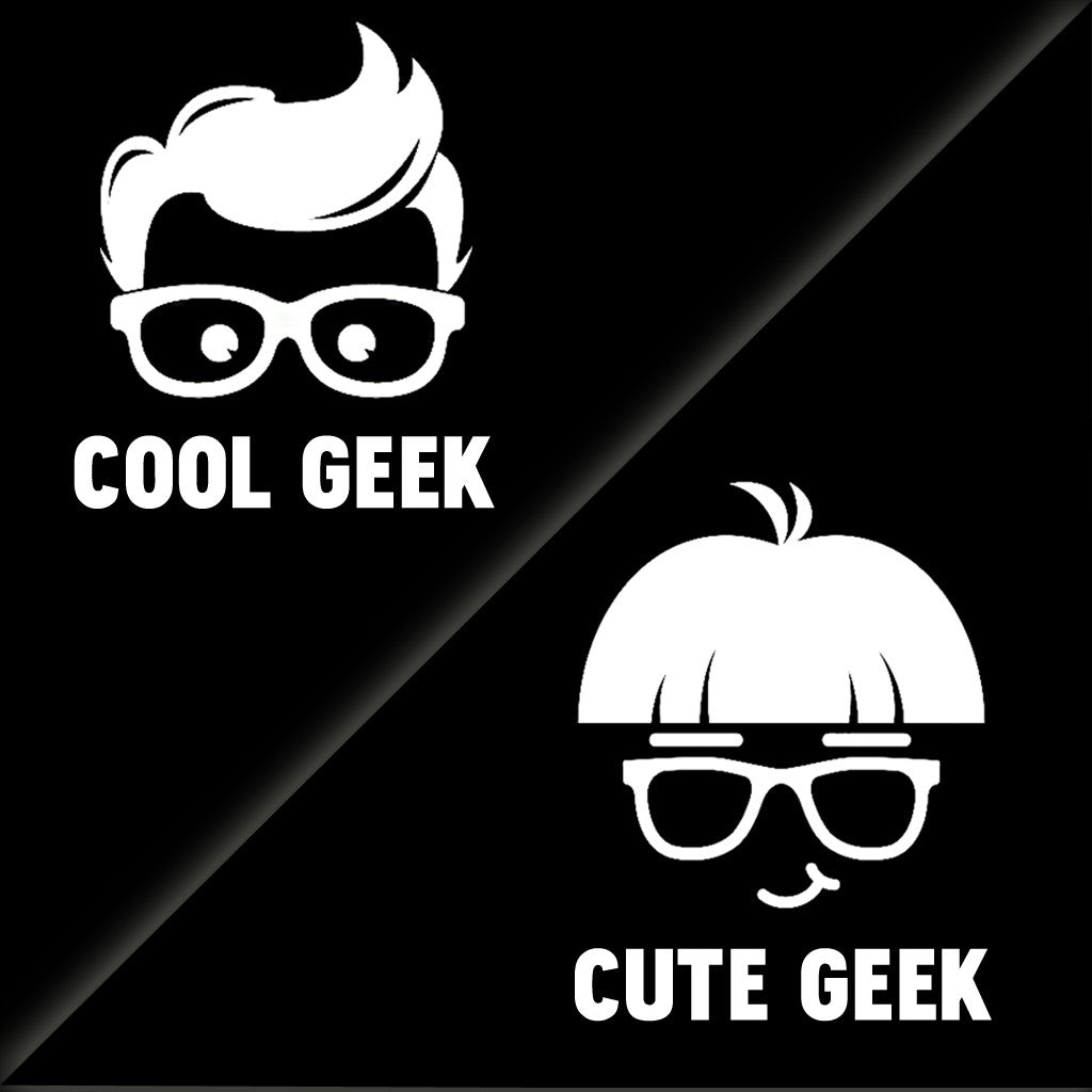 Stubborne Cool Geek Cute Geek Father Son T-Shirt Combo